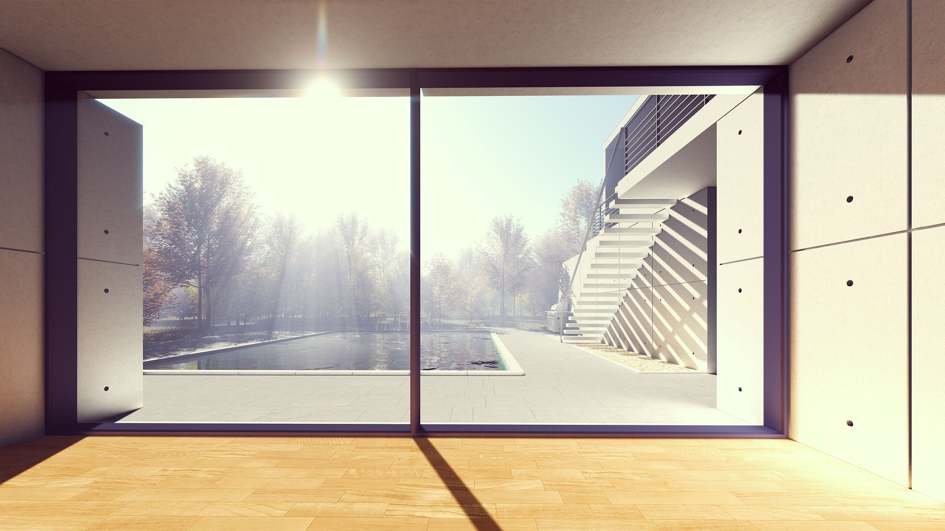 Portes et fenêtres : avantages des grandes surfaces vitrées